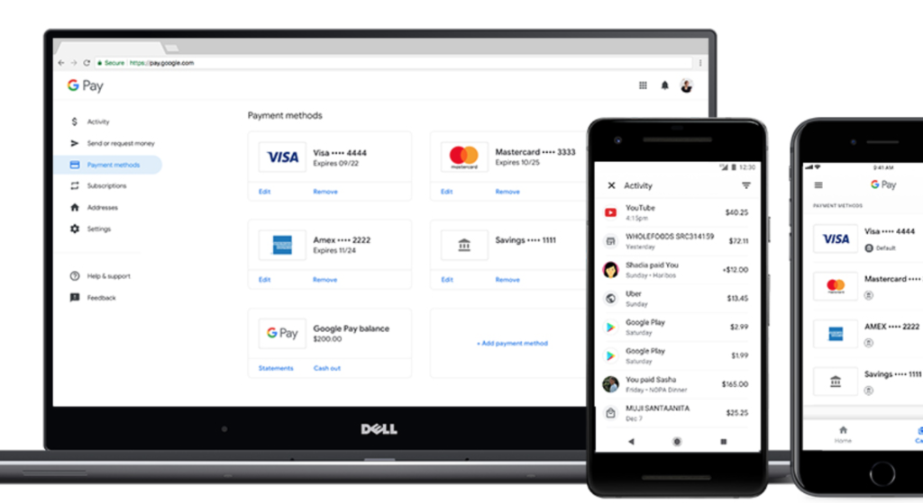 Google Pay platform, via Google